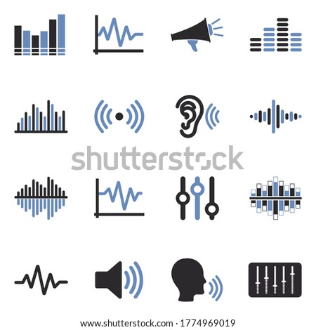sound and volume icons two