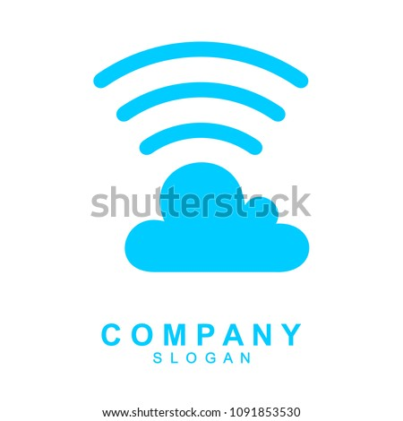 Sound Cloud vector logo template illustration design