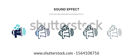 sound effect icon in different