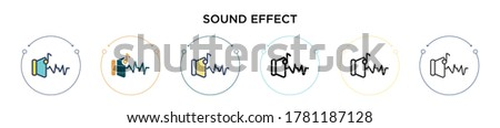 sound effect icon in filled