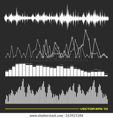 Sound equalizer graphic set in vector format