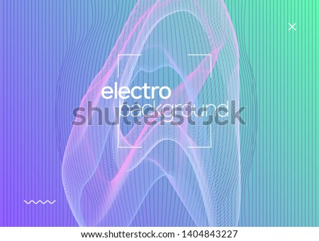 Sound flyer. Dynamic fluid shape and line. Energy show banner template. Neon sound flyer. Electro dance music. Electronic fest event. Club dj poster. Techno trance party.