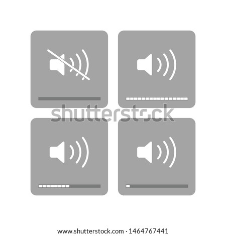 Sound icon isolated on white background. Volume symbol modern, simple, vector, icon for website design, mobile app, ui. Vector Illustration