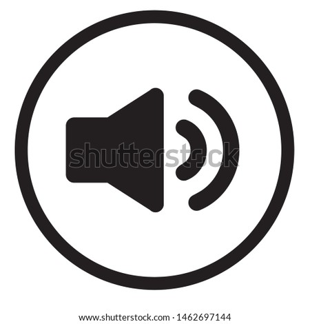 Sound icon, Sound icon vector, in trendy flat style isolated on white background. Sound icon image, Sound icon illustration