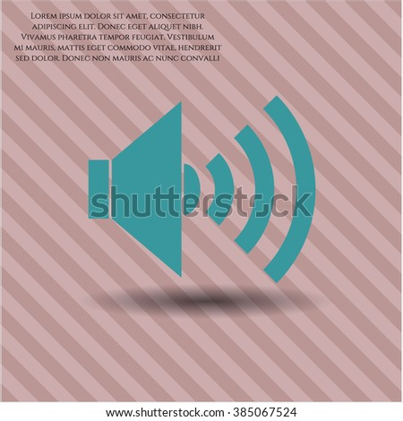 Sound icon vector illustration