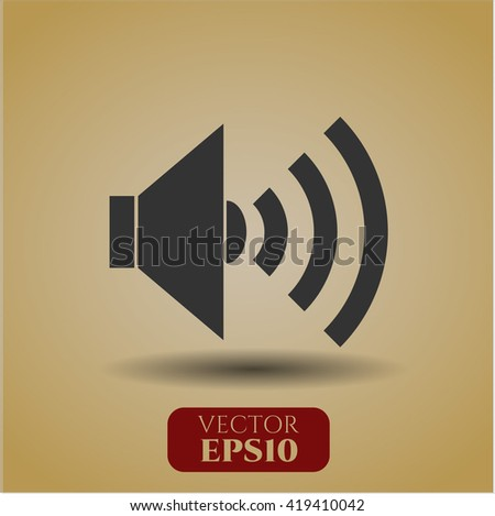 sound icon vector symbol flat eps jpg app web concept website