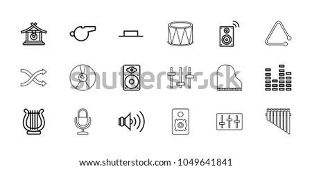 sound icons set of 18 editable