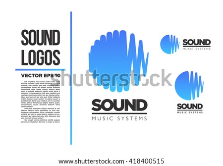Sound logo vector illustration