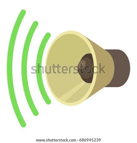 Sound louder icon. cartoon illustration of sound louder vector icon isolated on white for web