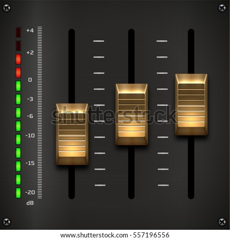 Sound mixer controller. Vector sound mixer.
