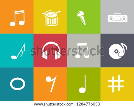 Sound Music icons set - audio sign and symbols, vector Music icons