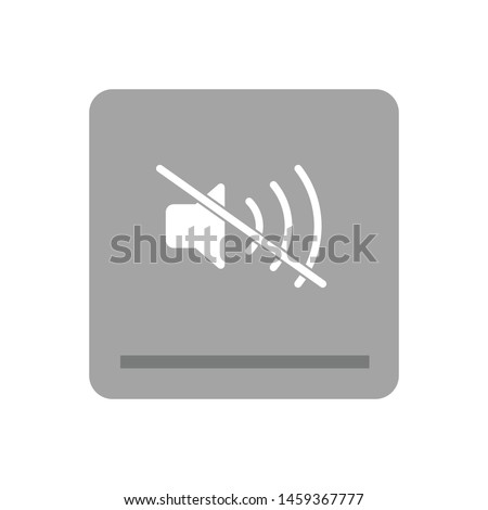 Sound Off icon isolated on white background. Mute symbol modern simple vector icon for website design, mobile app, ui. Vector Illustration
