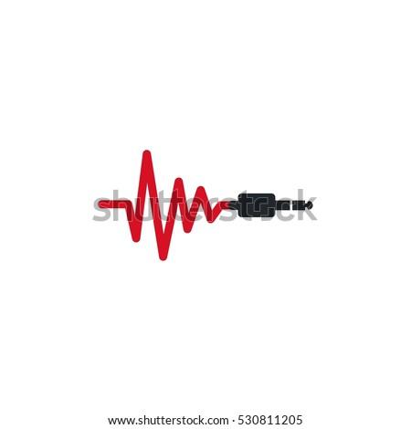 Sound Plug Vector Logo Design Element
