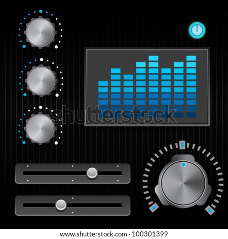 sound studio controls