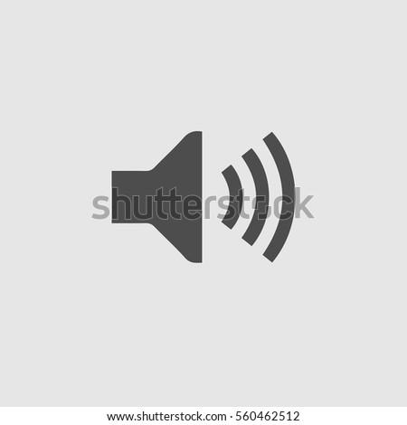 Sound symbol vector icon eps 10.