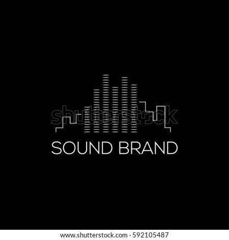 Sound vector logo design template