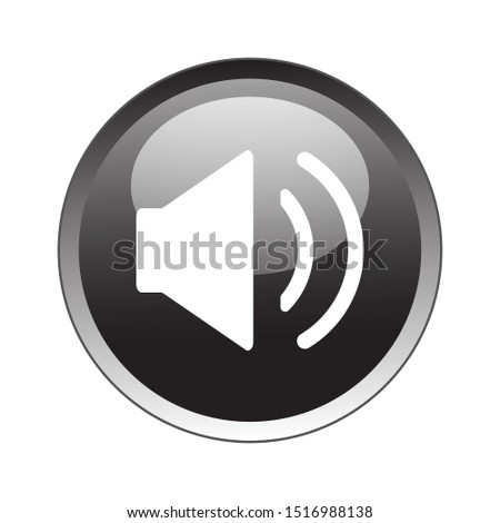 Sound Volume Button Icon Vector Design. Sound Volume Button Icon Vector Design with glossy gradient. Sound Volume Button Vector design illustration for electronic.