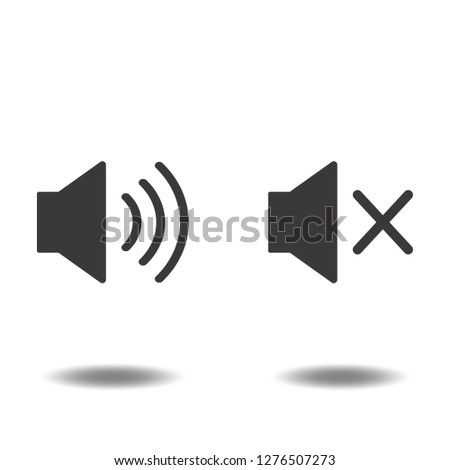 Sound volume icon vector audio speaker closed sign silence and mute symbols logo illustration isolated on white background black color.Concepts objects design for web app mobile phone.