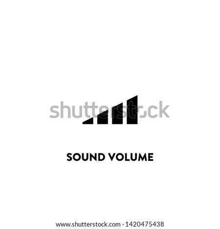 sound volume icon vector. sound volume sign on white background. sound volume icon for web and app