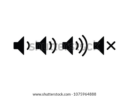 Sound volume icons. Vector illustration