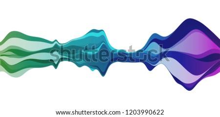 Sound wave amplitude audio design. Music waveform vector background equalizer.
