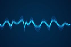 Sound wave background. Wave of musical soundtrack