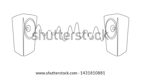 sound wave between two music