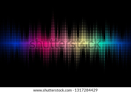 Sound wave design. Modern musical background with dynamic lines