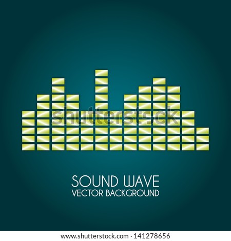 sound wave design over blue background vector illustration