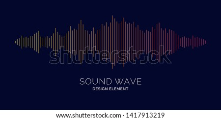 Sound wave equalizer. Modern vector illustration on dark background