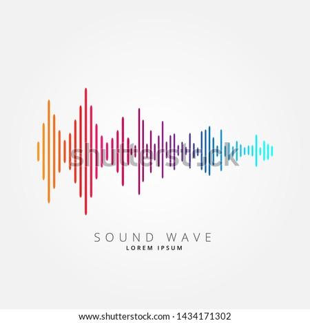 Sound wave equalizer suitable for poster, background or etc. Music soundwave design isolated on light gray backdrop. Vector Illustration