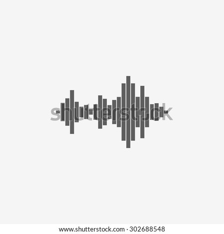 Sound wave music icon