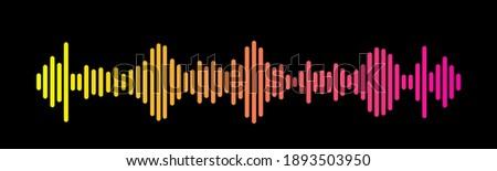 Sound Wave Symbol of Equaliser. Isolated on background. Gradient Vector Illustration Design. Stock photo ©