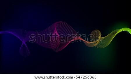 Sound wave Technology Background Display 1280x720