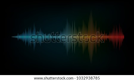 sound wave vector background