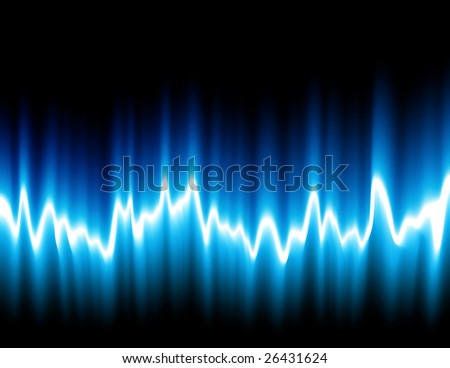 Sound wave, vector illustration, EPS file included