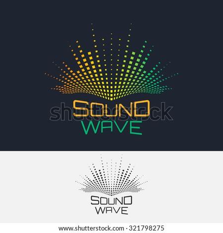 sound wave  vector logo design