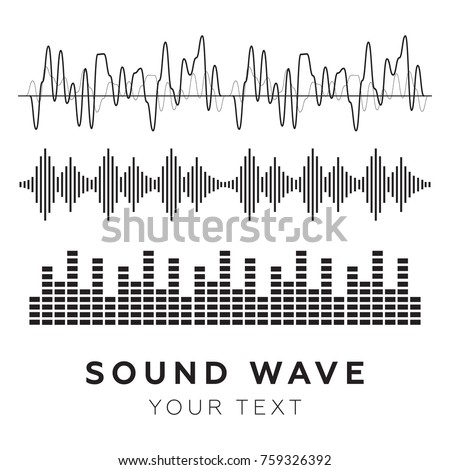 Sound waves concept. Sound waves vector. Sound waves sign and symbol in flat style
