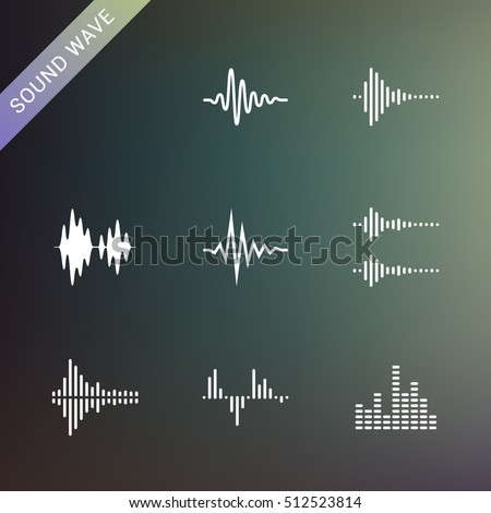 Sound waves. Music waveforms.