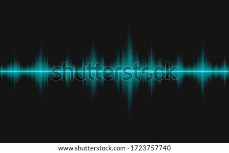Sound waves of oscillating light. Stock photo ©