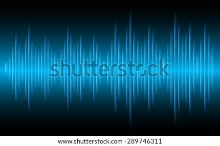 sound waves oscillating glow
