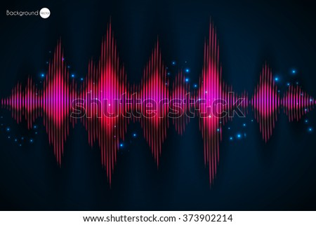 sound waves oscillating glow