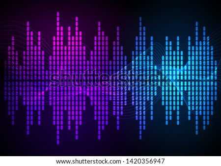 Sound waves vector abstract - graphic equalizer vector background for different joyful events. Illustration eps 10 can be used, music brochure layout page, cover magazine, booklet