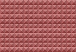 Soundproofing background. The texture of the wall of a recording studio. Vector eps10. Acoustic foam rubber wall pattern for sound studio recording, Vector illustration.