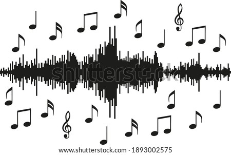 Soundtrack, music style, musical design, musical note, treble clef Stock photo ©