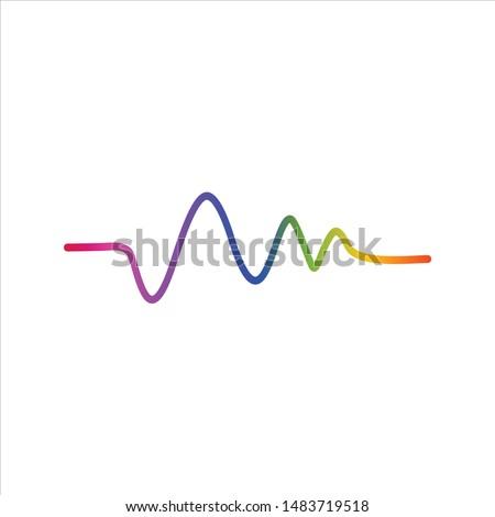 soundwave logo vector icon template