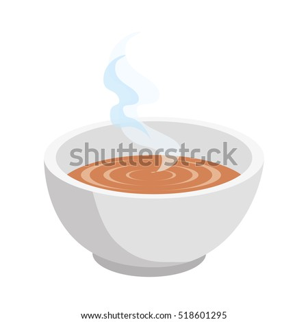 soup dish isolated icon