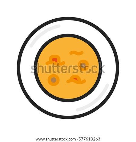 soup dish plate minimalistic