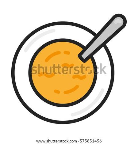 soup dish spoon minimalistic