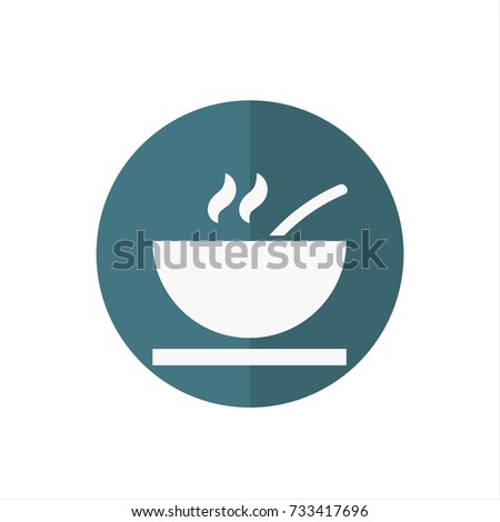 Soup icon in trendy flat style isolated on white background. Soup icon symbol for your web site design,Soup logo, app, UI. Vector illustration, Soup icon eps10.